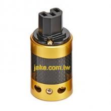 金色烤漆,碳纖維外殼,鍍金IEC C15歐規音響級電源插座