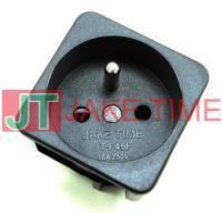 歐規法式1U size 45mm*45mm 機櫃電源插座