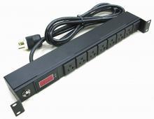 附電流錶 3孔8座電源延長線